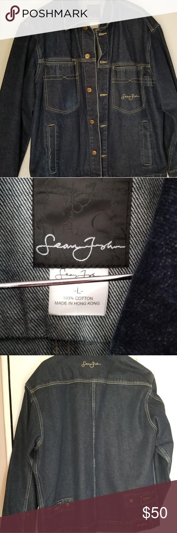 3 30 Sean John Jean Jacket Men S Large Jean Jacket Men Sean John Jeans Mens Jackets [ 1740 x 580 Pixel ]