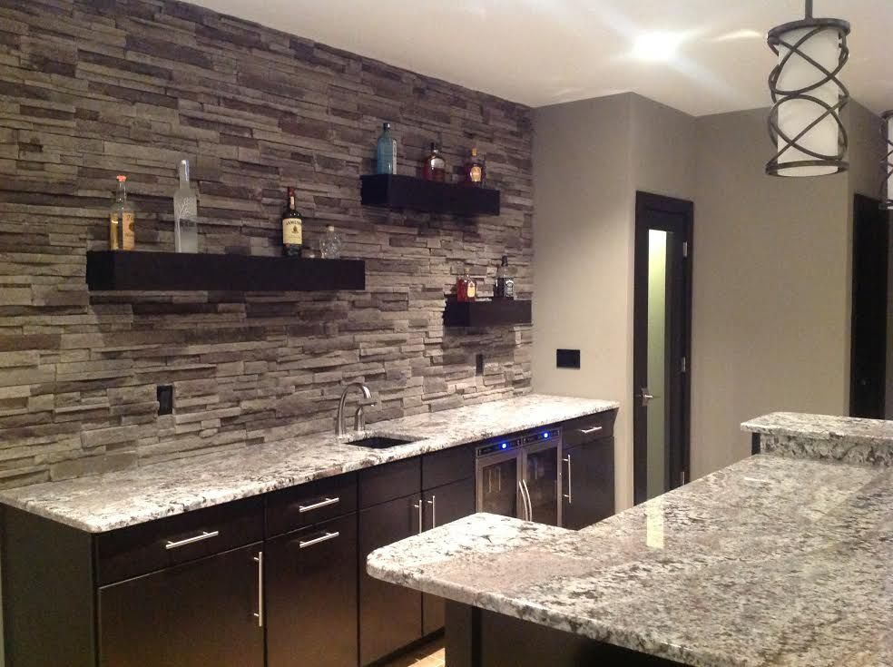 Black Mountain - Pro Fit® Alpine Ledgestone - Cultured Stone - Stone - Boral USA - Wet Bar Back Splash