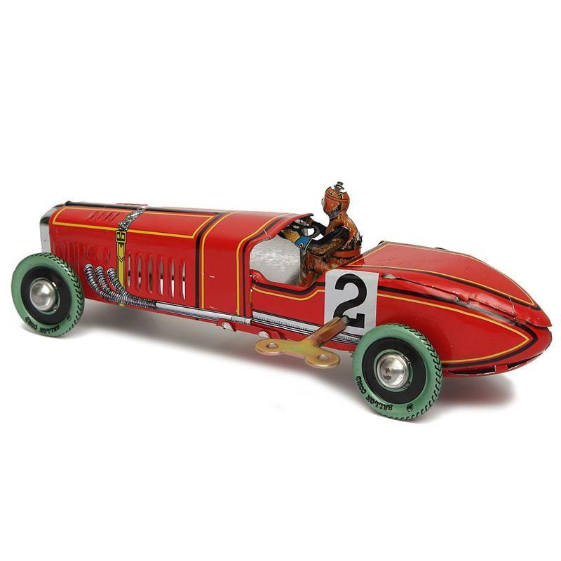 Wholesale Iron metal handicraft Vintage red Wind Up Racing old ...