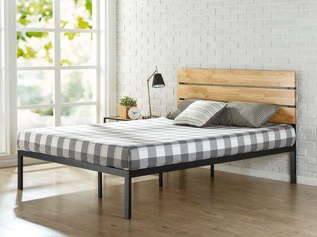 Zinus Sonoma Metal Wood Platform Bed Black Twin Metal Platform