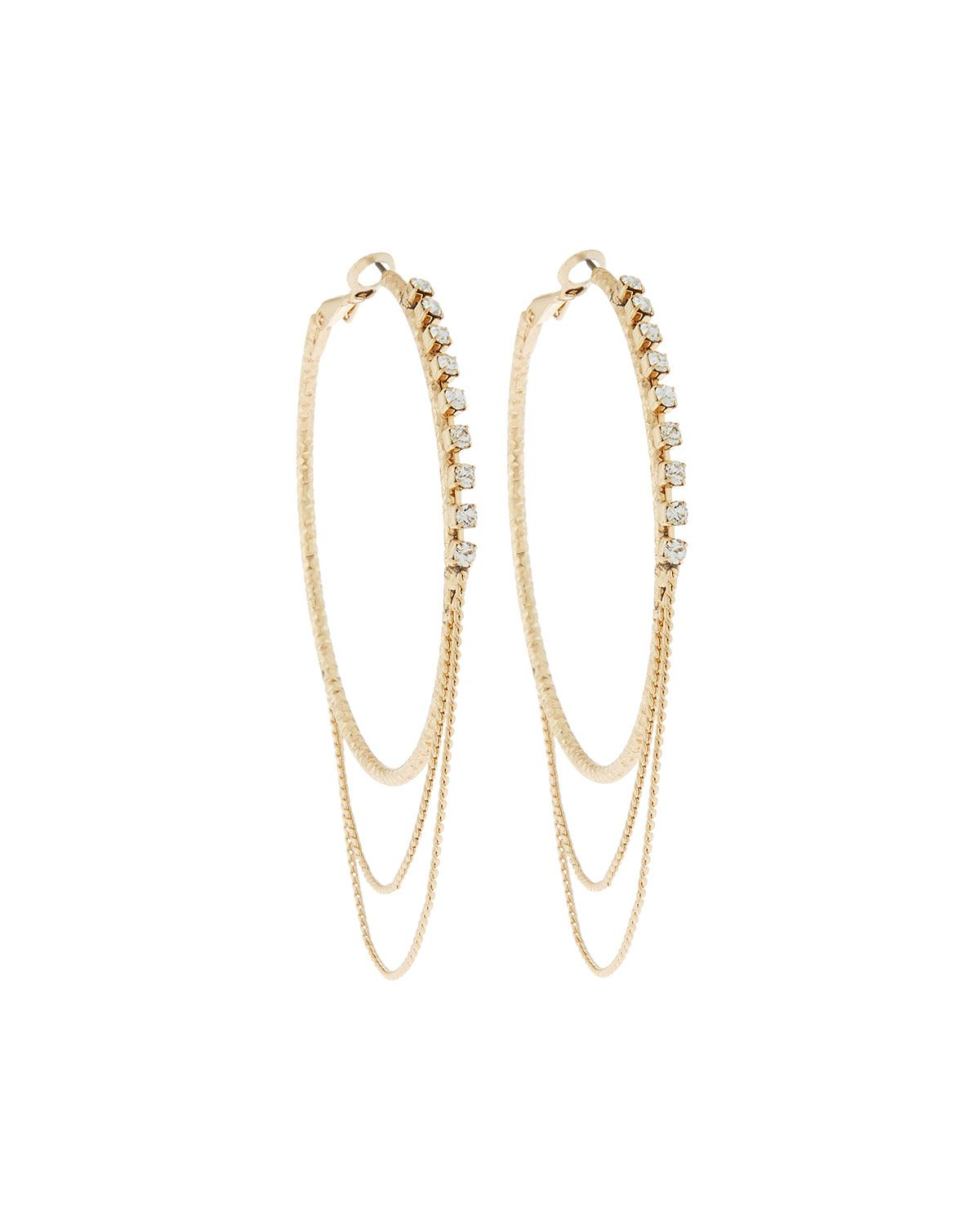 Fragments Crystal Hoop Earrings 5o6uX0uI