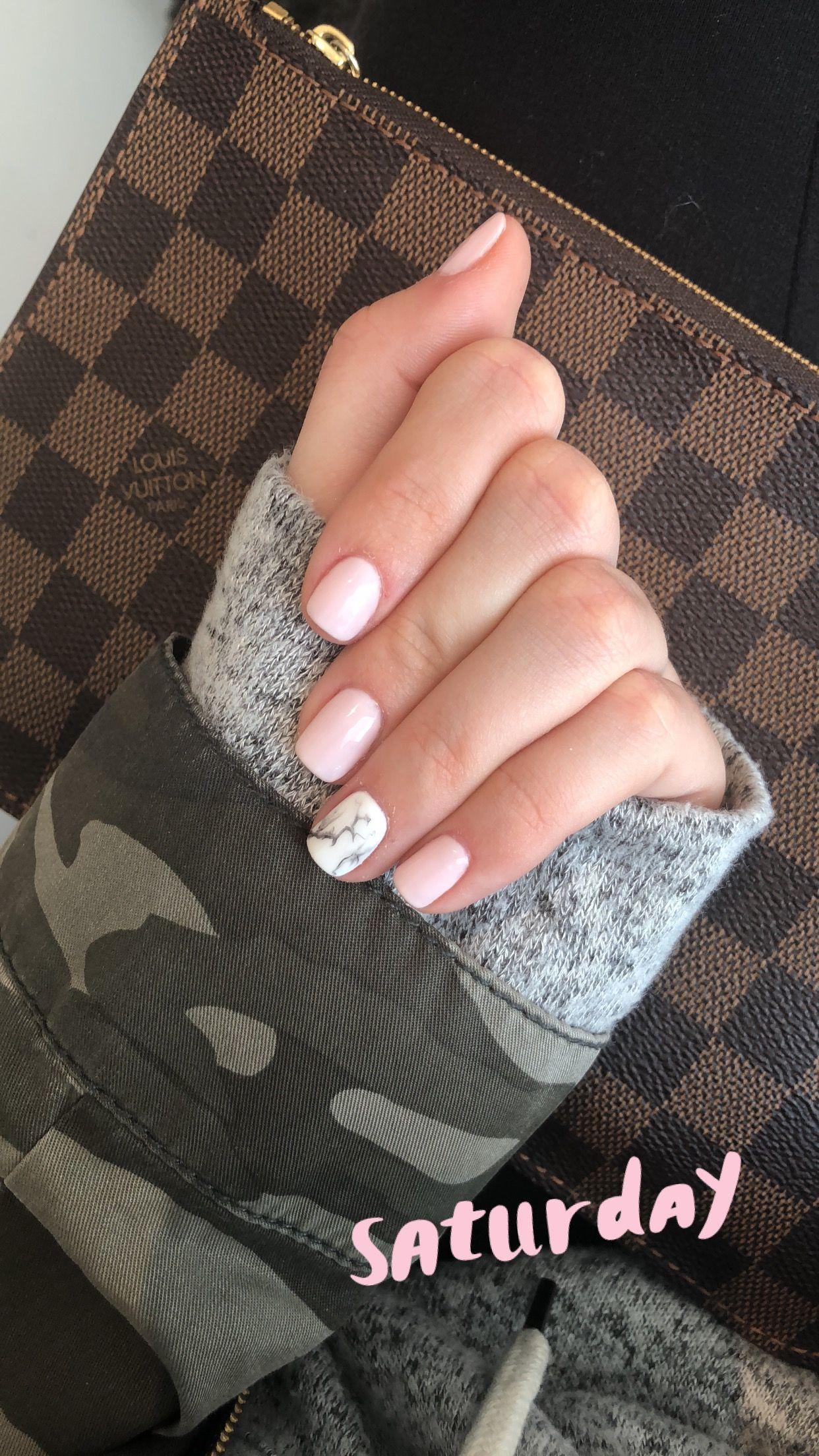 """Orly gel fx nail color """"kiss the bride"""" with marble ring finger ..."""