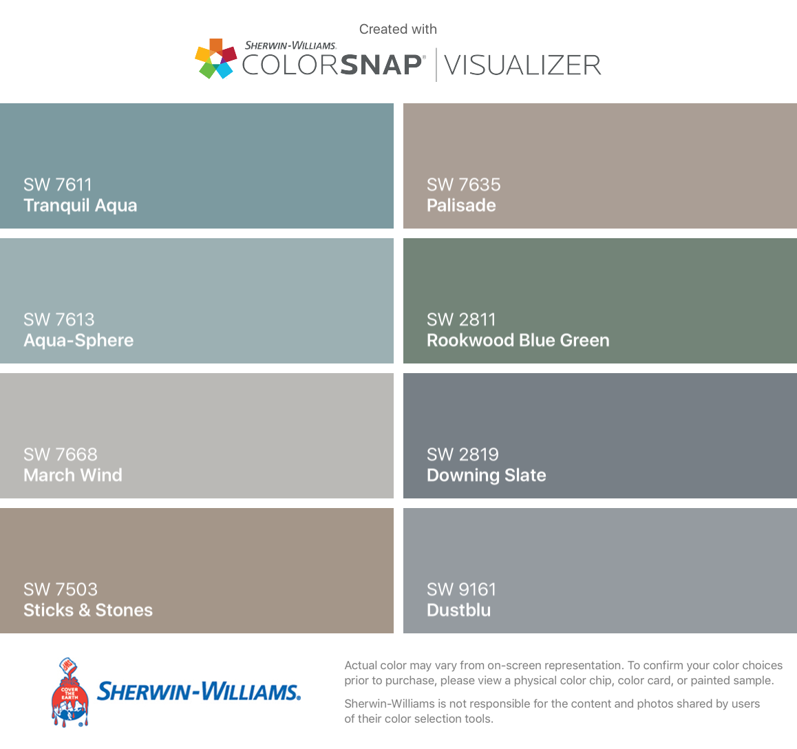 I Found These Colors With Colorsnap Visualizer For Iphone By Sherwin Williams Tranquil Aqua Sw 7611 Aqua Sphere Paint Colors For Home Agreeable Gray Color