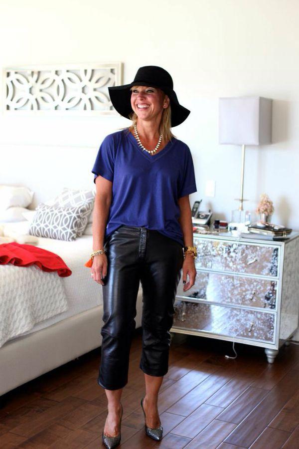 Leather capris #vintageclothing