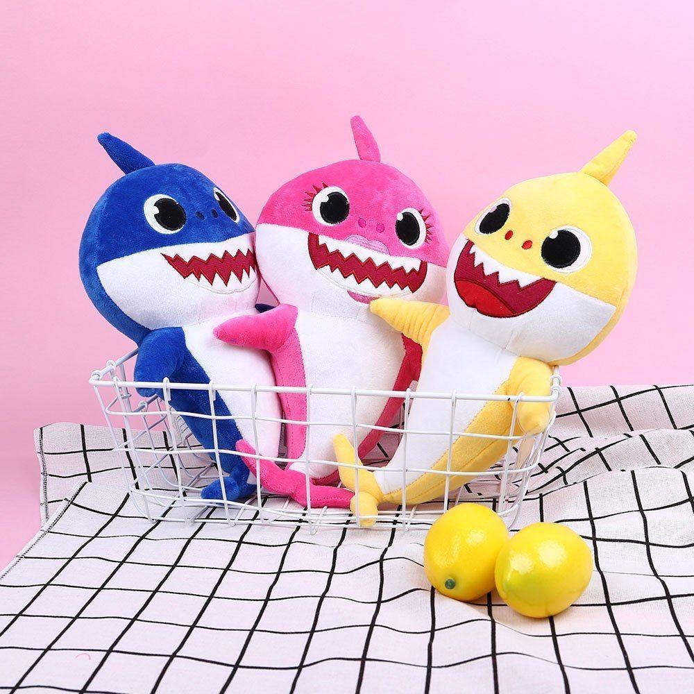 Cartoon Plush Toys Animal Stuffed Toy Plush Doll Soft Toys Fox Sharks Kids Baby