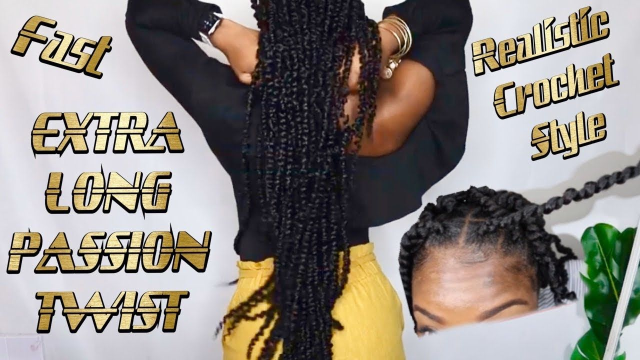 EXTRA LONG PASSION TWIST USING CROCHET HAIR FROM AMAZON FT LEEVEN HAIR