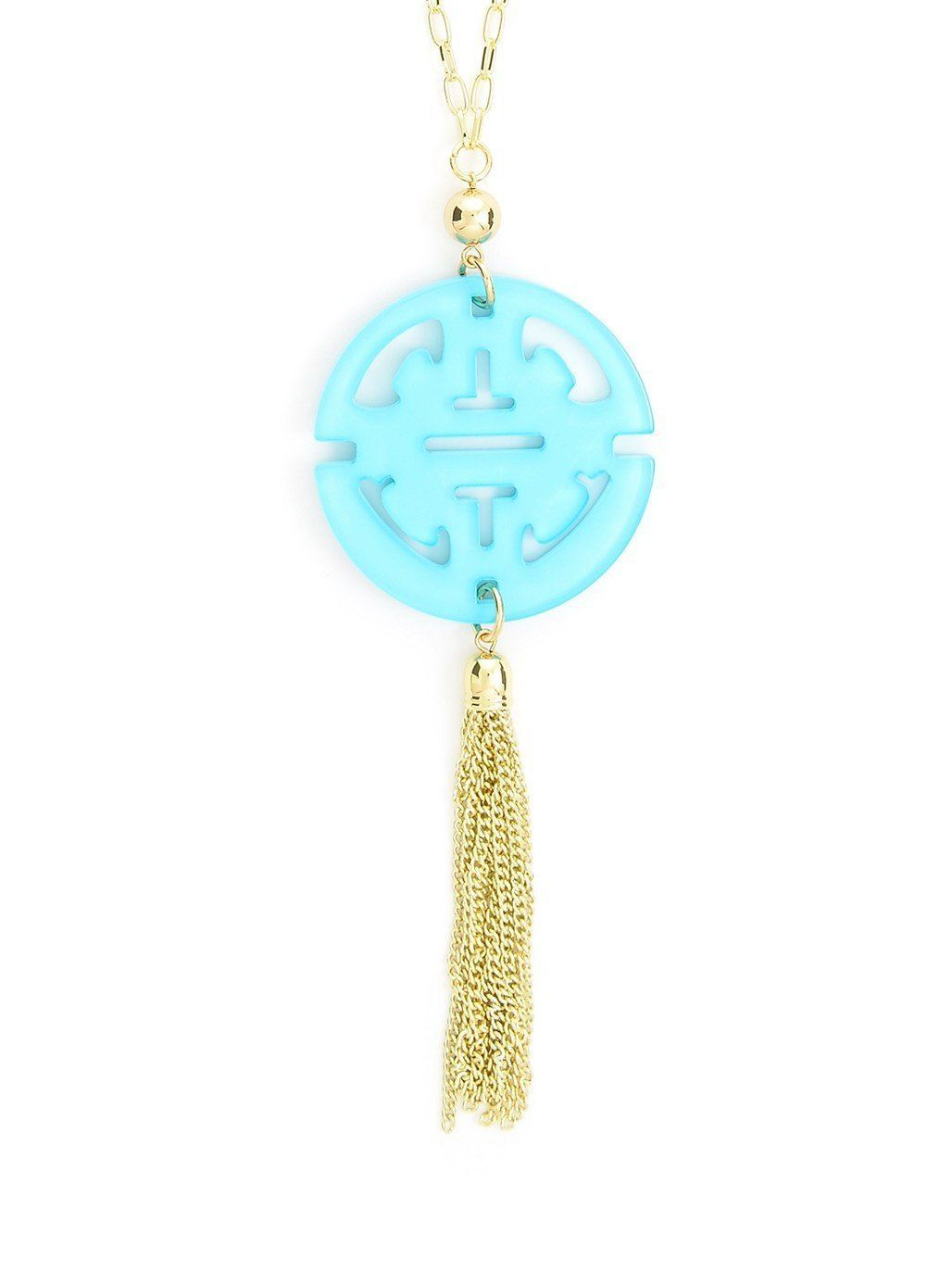 Zenzii resin traveling tassel necklace in products