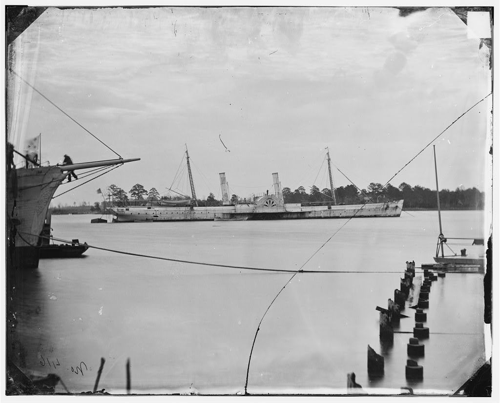 Steamer U.S.S. Fort Donelson (former Confederate blockade runner Robert E. Lee) Norfolk, VA, December 1864