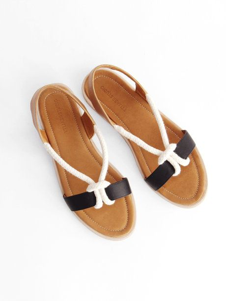 August Sandal - Black/Cognac