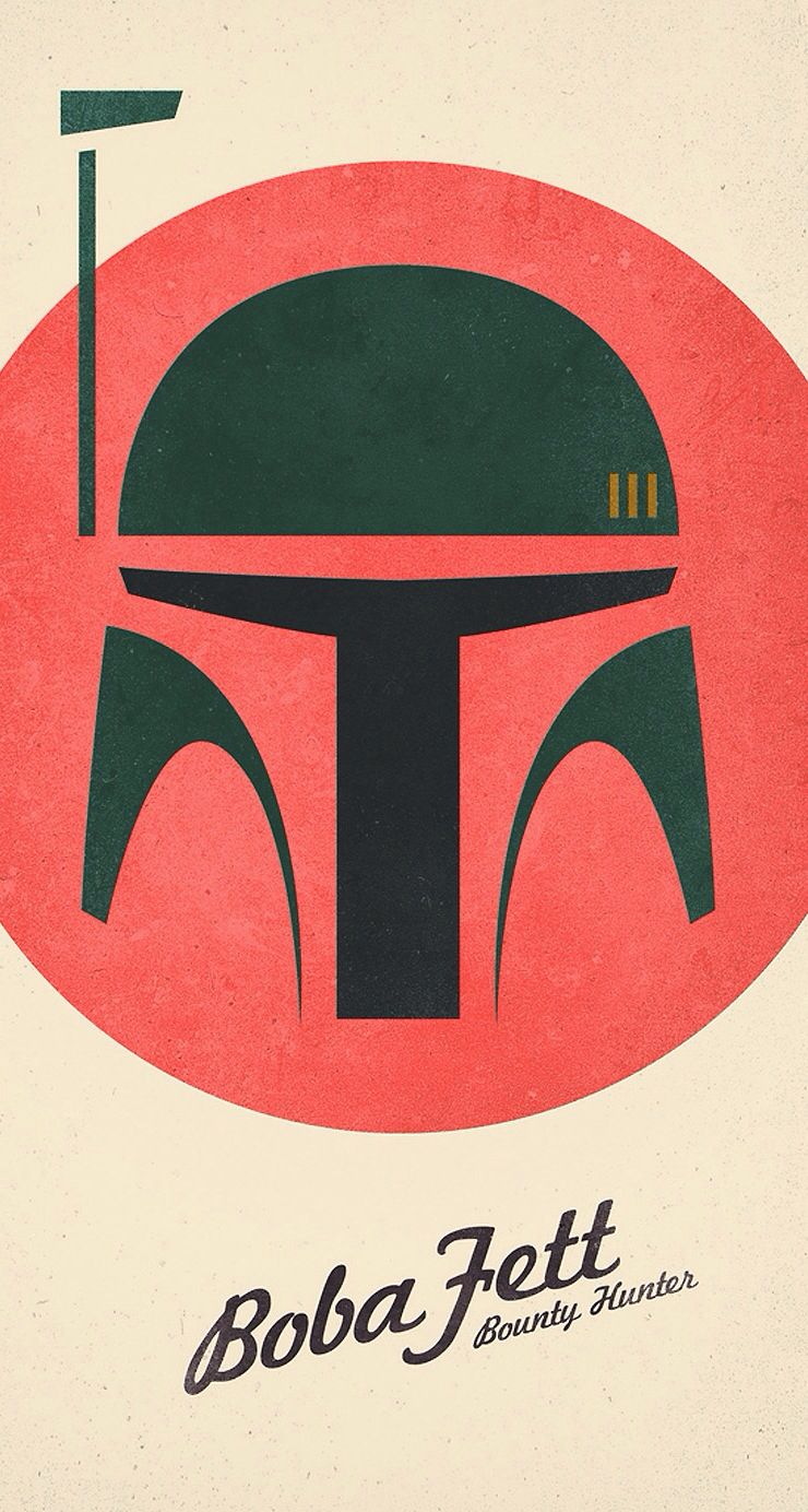 Via iPhone wallpaper apps 10 · Boba Fett ...