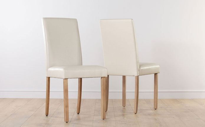 Ivory Leather Dining Room Chairs Classy City Ivory Leather Dining Chair Oak Leg  Kitchen  Pinterest 2018