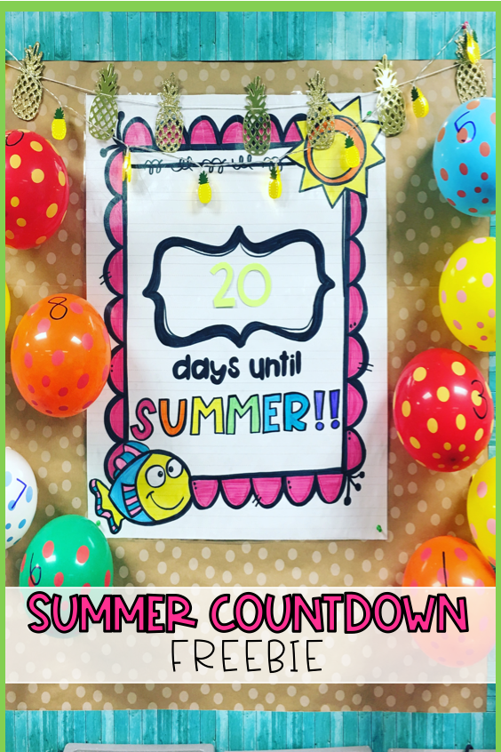 End of the Year Summer Countdown FREEBIE Classroom