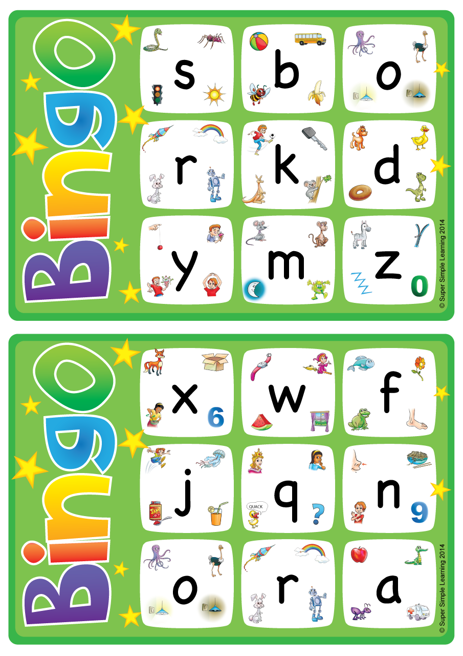 Alphabet/Vocabulary Bingo Game Lowercase Letters az