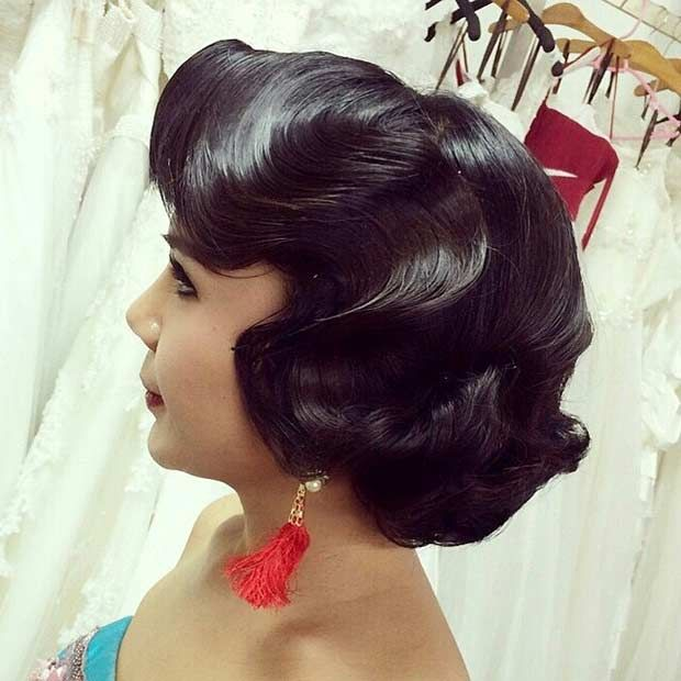 31 Wedding Hairstyles For Short To Mid Length Hair Stayglam Mid Length Hair Retro Hairstyles Hair Styles