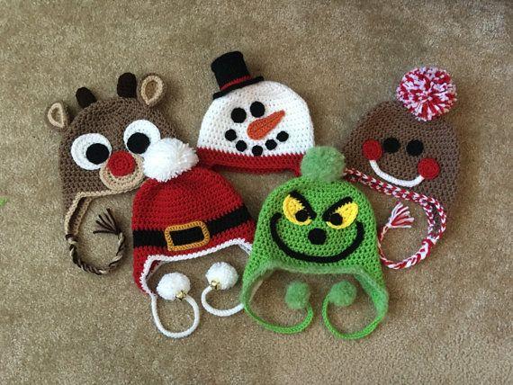 Recién nacido Rudolph sombrero Reno Newborb Navidad  df7a8a4875e
