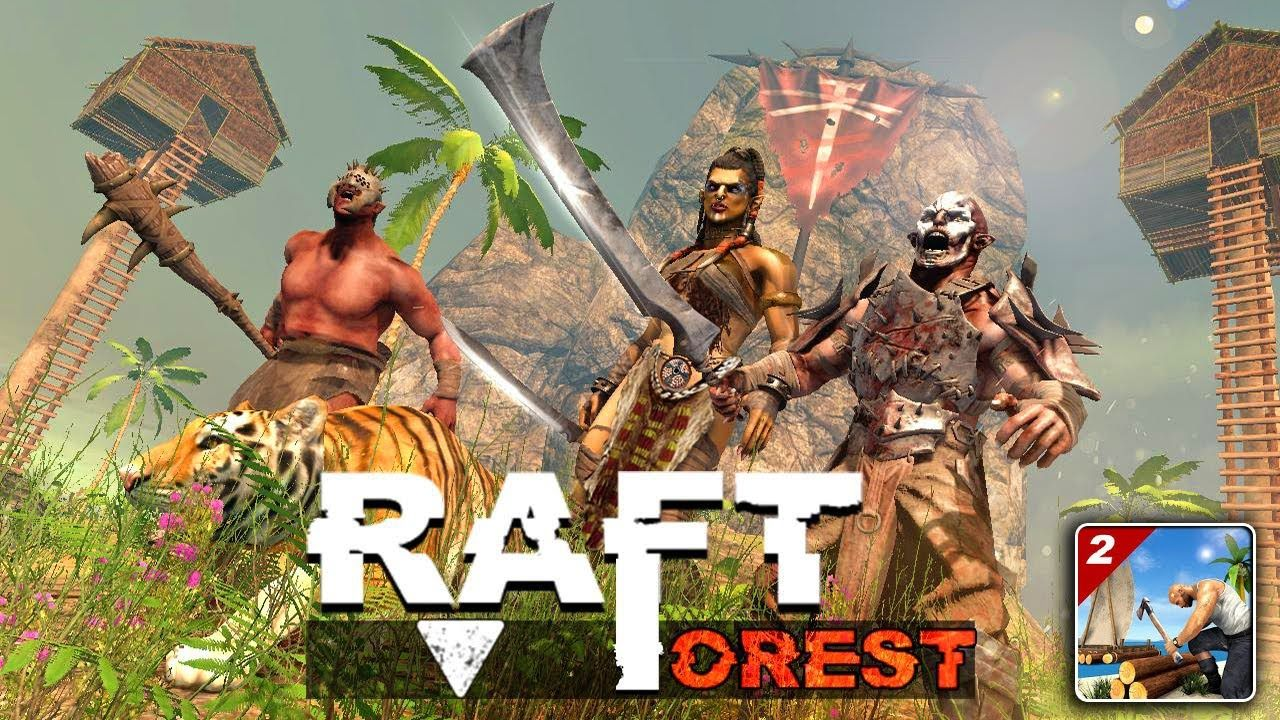 Raft Survival Forest 2 Android Gameplay In 2020 Island Survival Forest Games Rafting