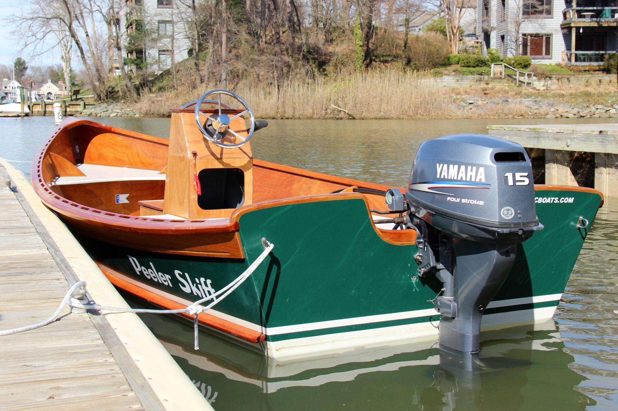 Peeler Outboard Power Skiff Boat Boat Building Wood Boat Building