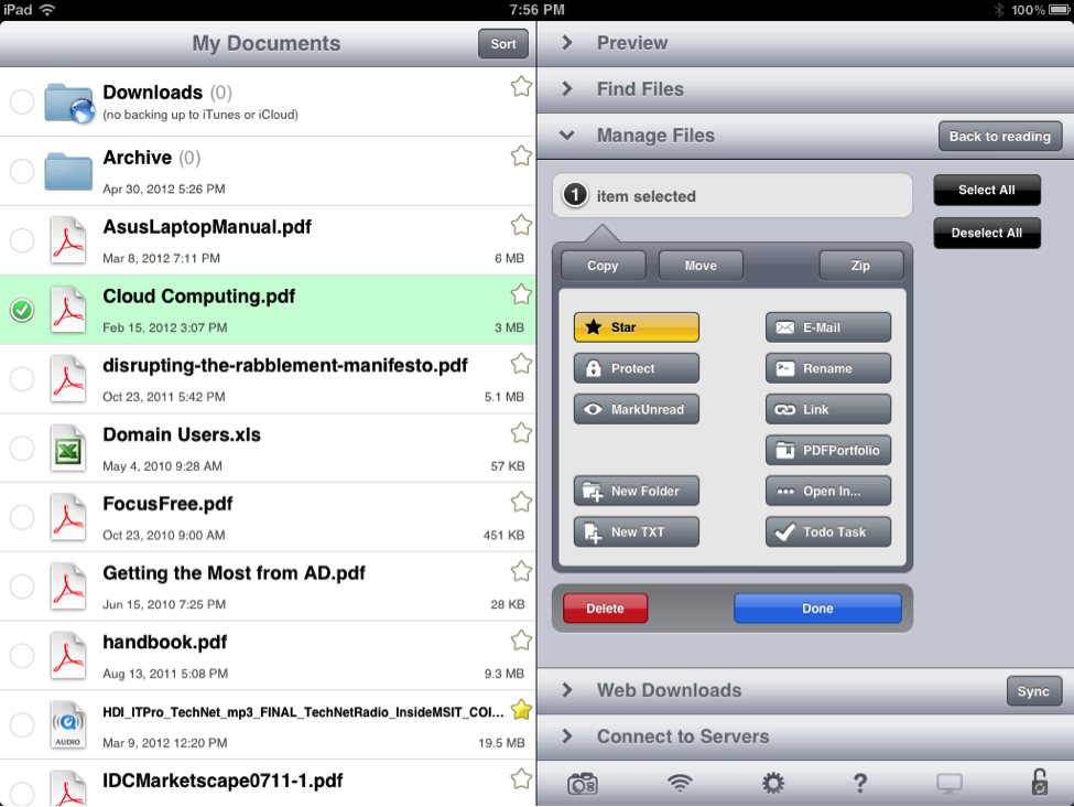 GoodReader 5 for iPad: An inexpensive, powerful app for the