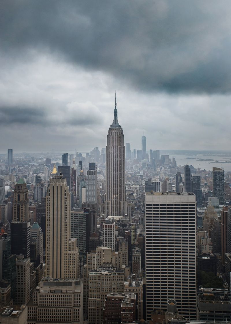 The Empire State Building After A Stormy Night New York Travel New York States In America