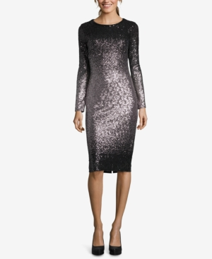 127c1558 Ombré Sequined Sheath Dress | Products | Dresses, Sheath Dress, Sequins