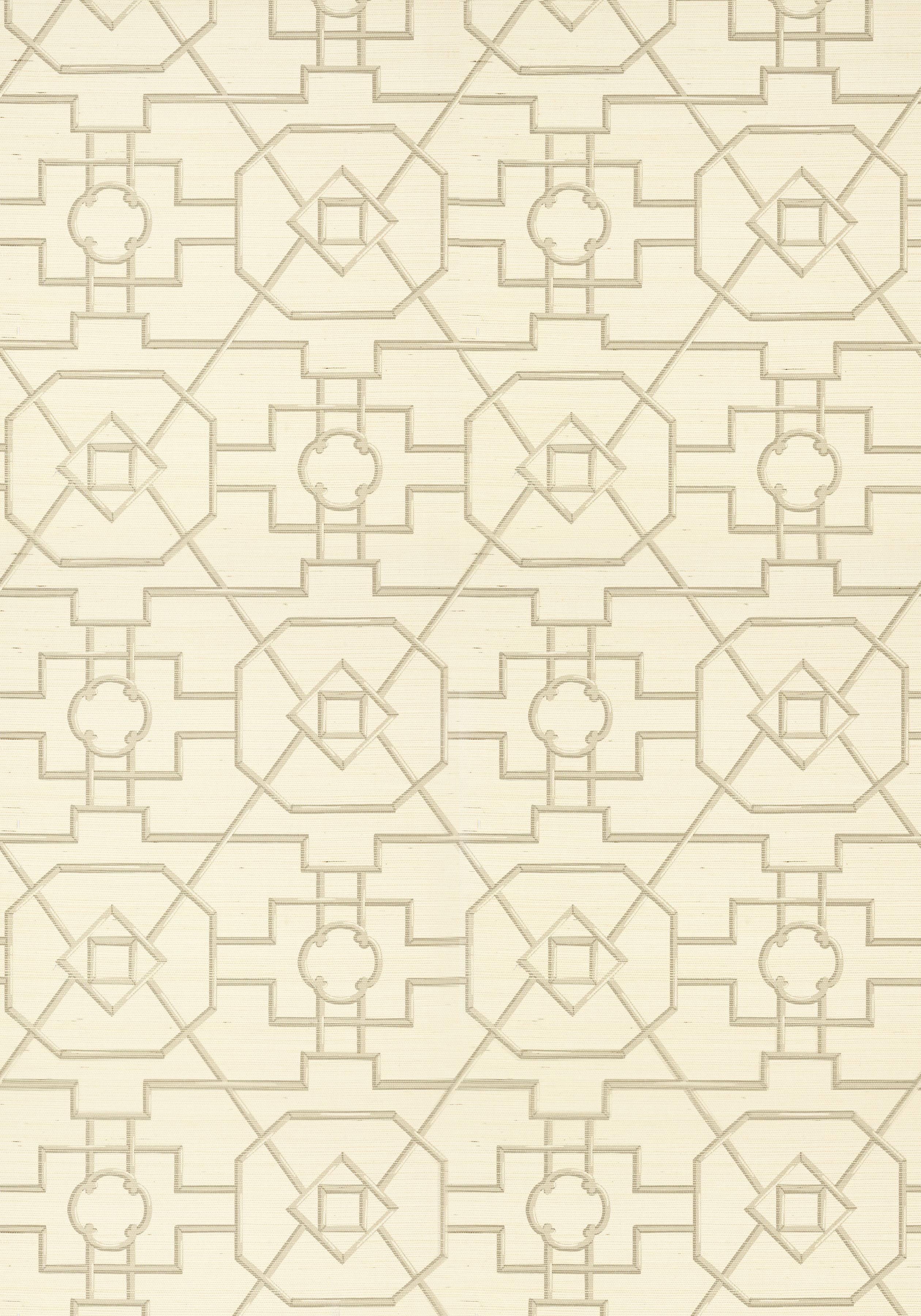 EAST GATE, Cream and Grey, T41153, Collection Grasscloth