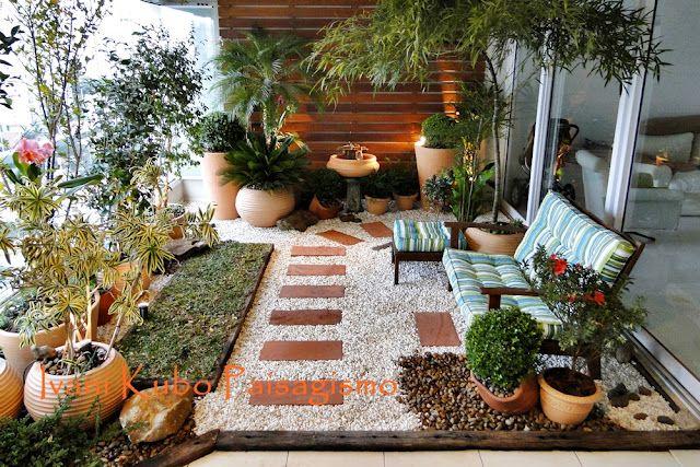 Photo of Varanda  –  Paisagismo – Jardim em Terraço de Apartamento