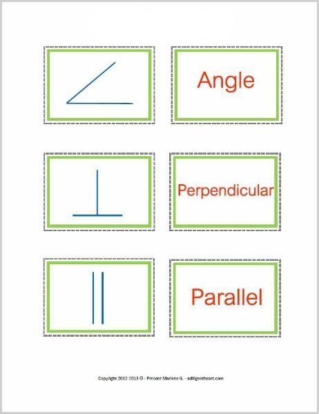 Geometry Symbols Memory Game (free printable) | Homeschool ...