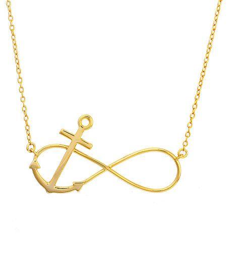 Nes Jewelry Gold Infinity Anchor Necklace Zulily Art Pinterest