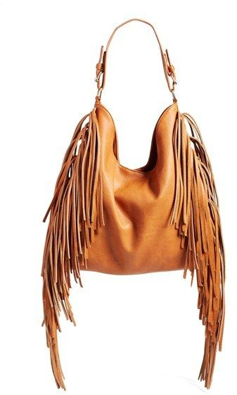 Street Level Fringe Vegan Leather Tote