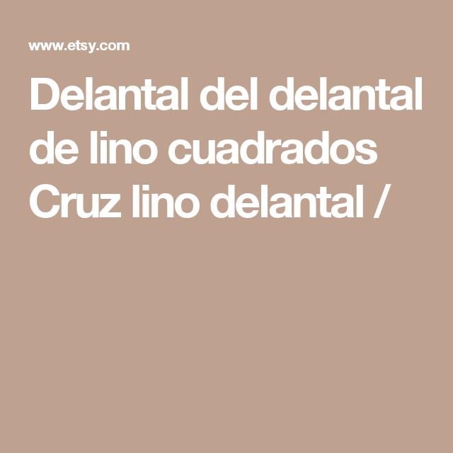 Delantal del delantal de lino cuadrados Cruz lino delantal /