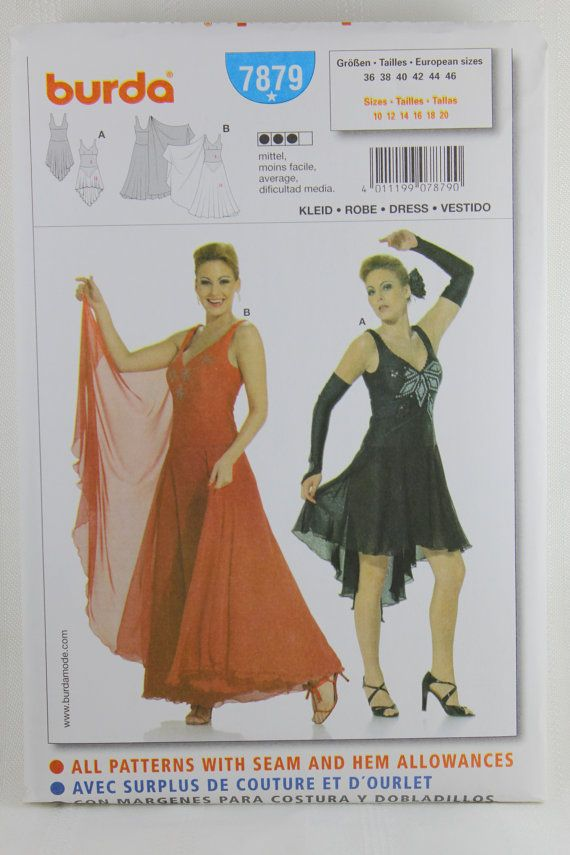 Burda 7879 Dance Costume Sewing Pattern By Allyssecondattic Art