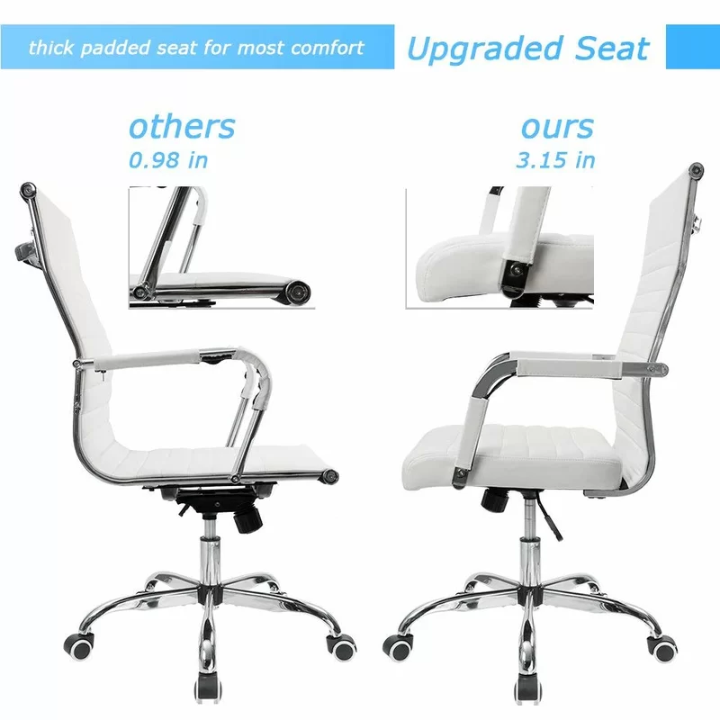 Renda Mid Back Ribbed Conference Chair Office Chair Conference Chairs Desk Chair