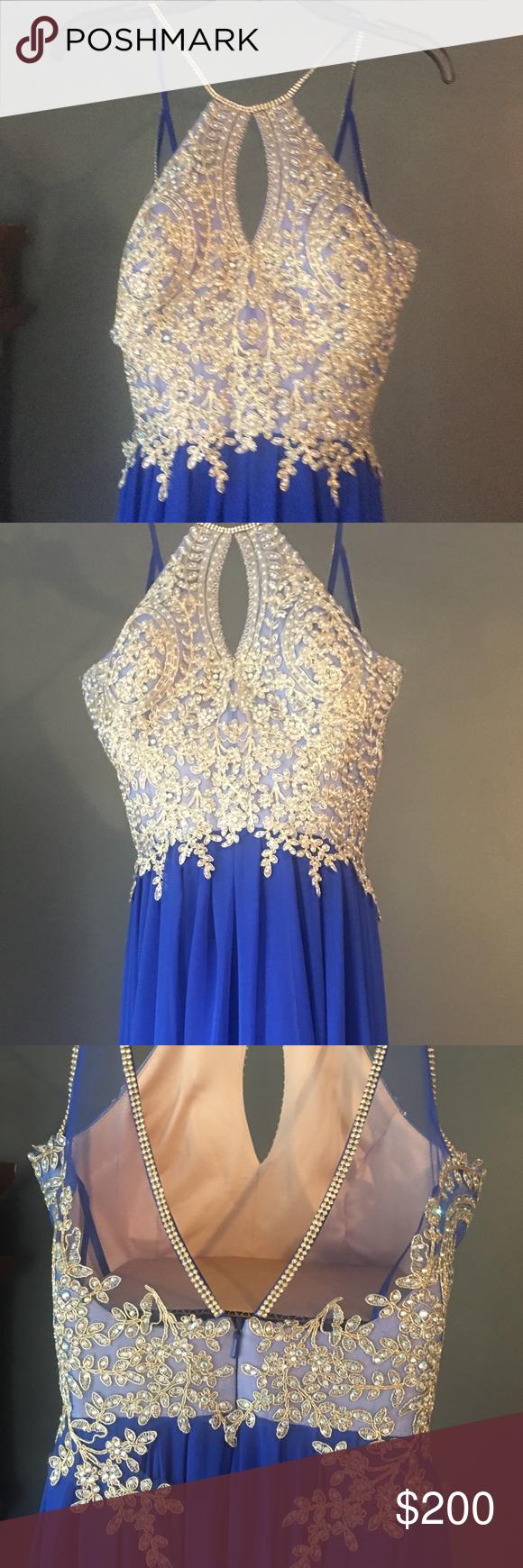 Front Keyhole Cut Out sparkling prom dress | Kleider