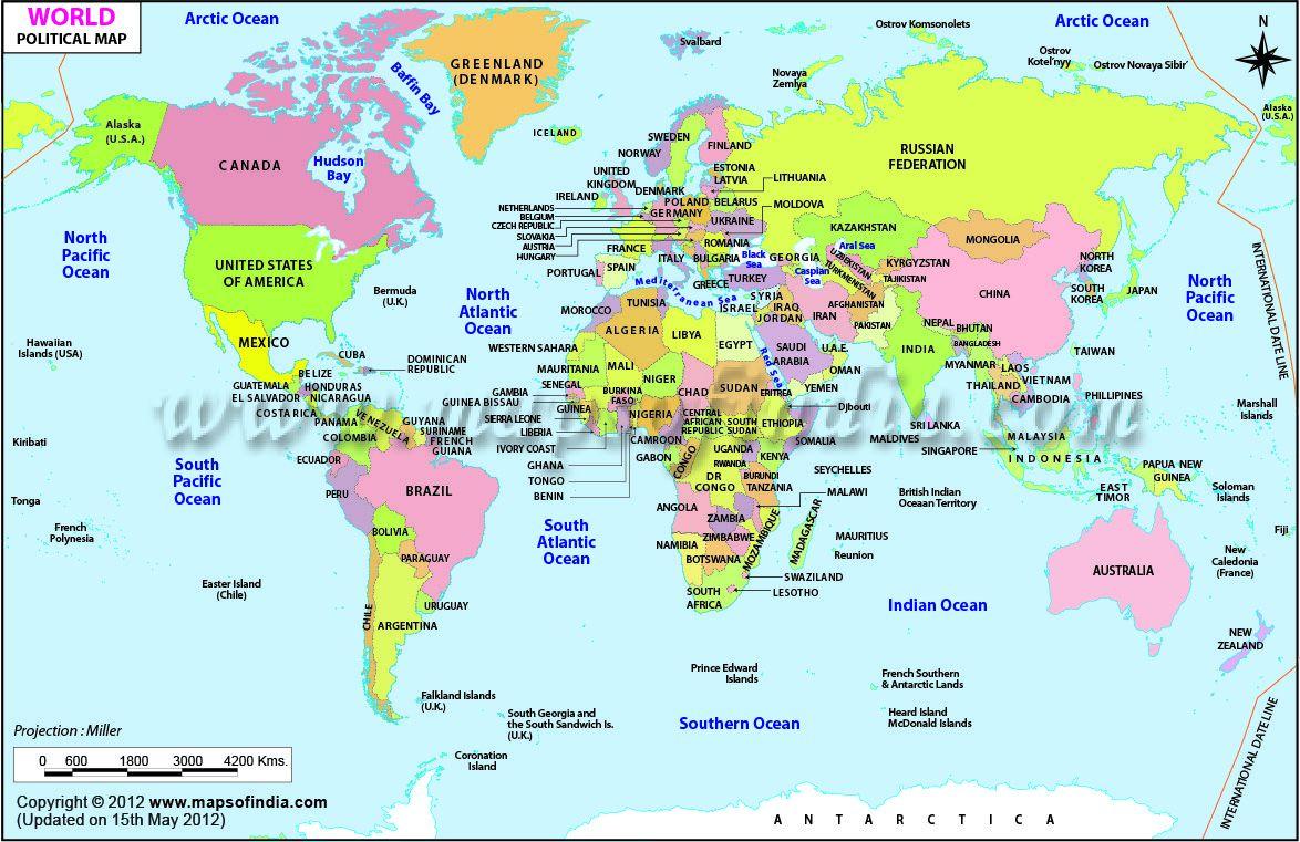 Pin On Kids World Map