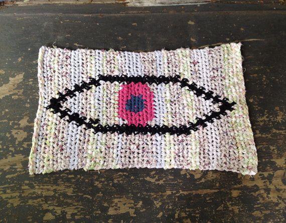 Pink Eye Rag Rug by BraveHandTextiles on Etsy