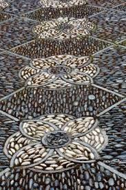 Resultado de imagem para simple lotus mandala pebble path