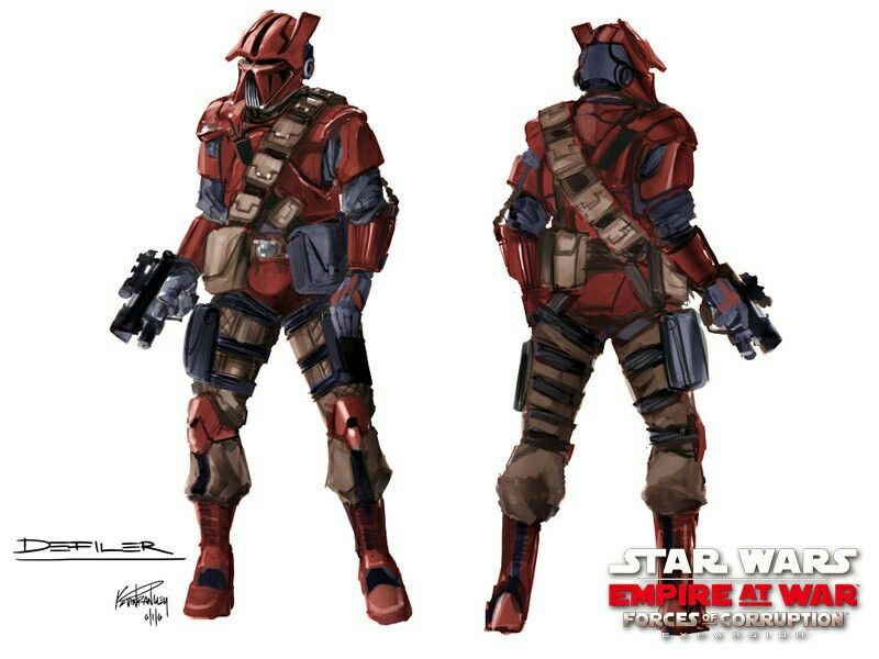 Cool bounty hunter desigh from star wars empire at war force of corruption game.
