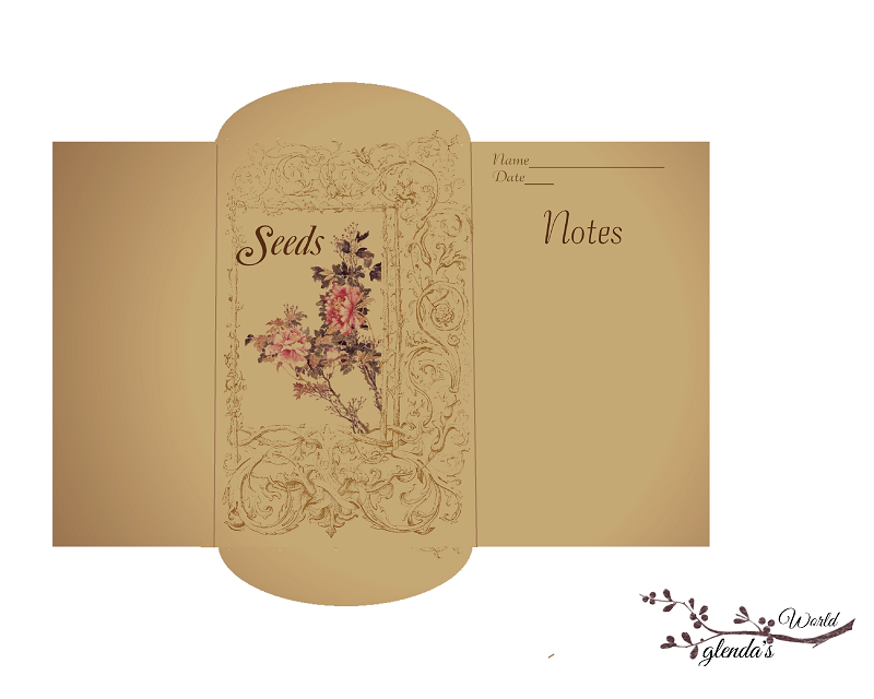 Antique Seed Packet Templates  Seed Packets Template And Envelopes
