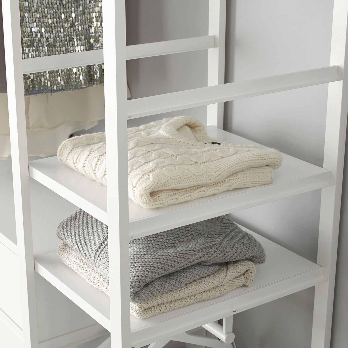IKEA ELVARLI Side unit white in 2020 Ikea, Shelves