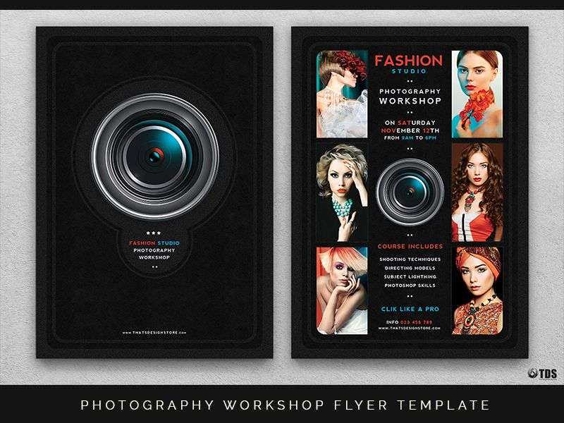 Photography Workshop Flyer Template  Photography Workshops Flyer