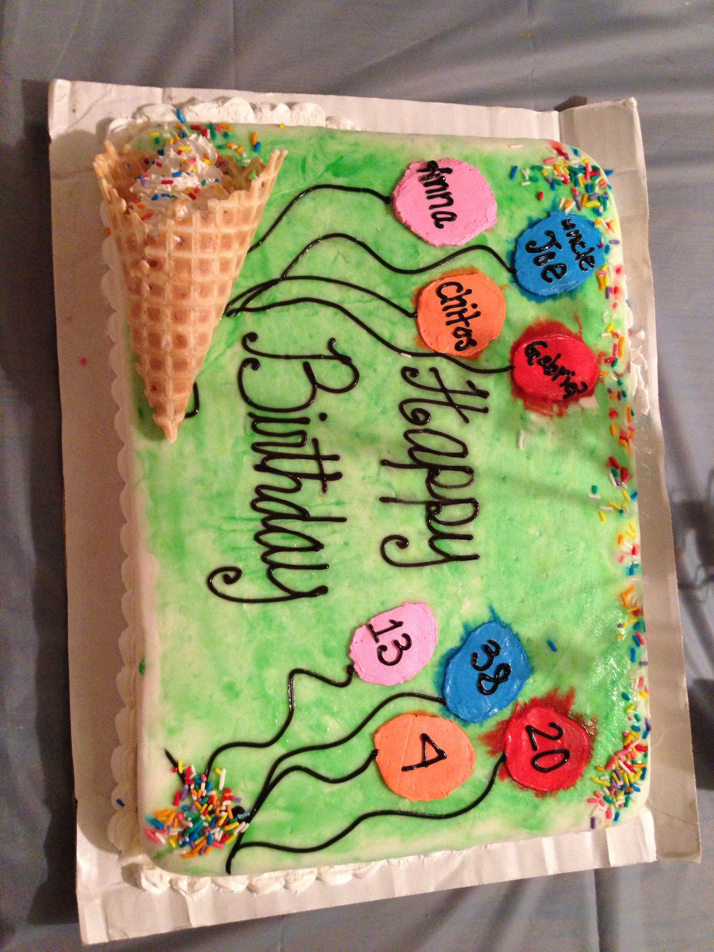 Sensational Multiple People Birthday Cake Birthday Sheet Cakes Birthday Funny Birthday Cards Online Hendilapandamsfinfo