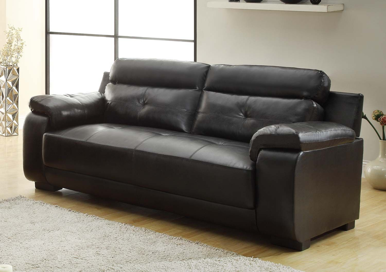Homelegance Zane Sofa Black All Bonded Leather Price