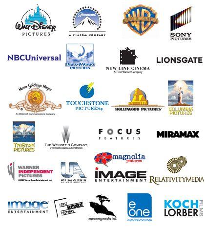 Movie Studios Logos Walt Disney Pictures Paramount Pictures Warner Bros Sony Pictures Nbc Un Touchstone Pictures Walt Disney Pictures Hollywood Pictures