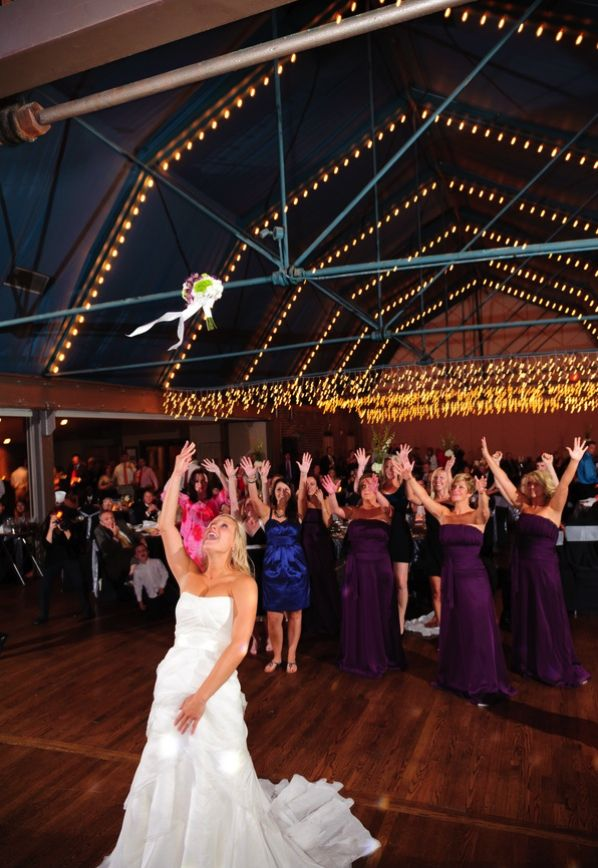 Jordan Andrea S Wedding Reception At The Foundry In Knoxville Tn Bouquet Toss Music Motion Dj Uplighting Seaton Shoots