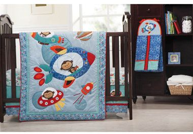Definitely Going With Space Monkey Crib Bedding For Little Baby