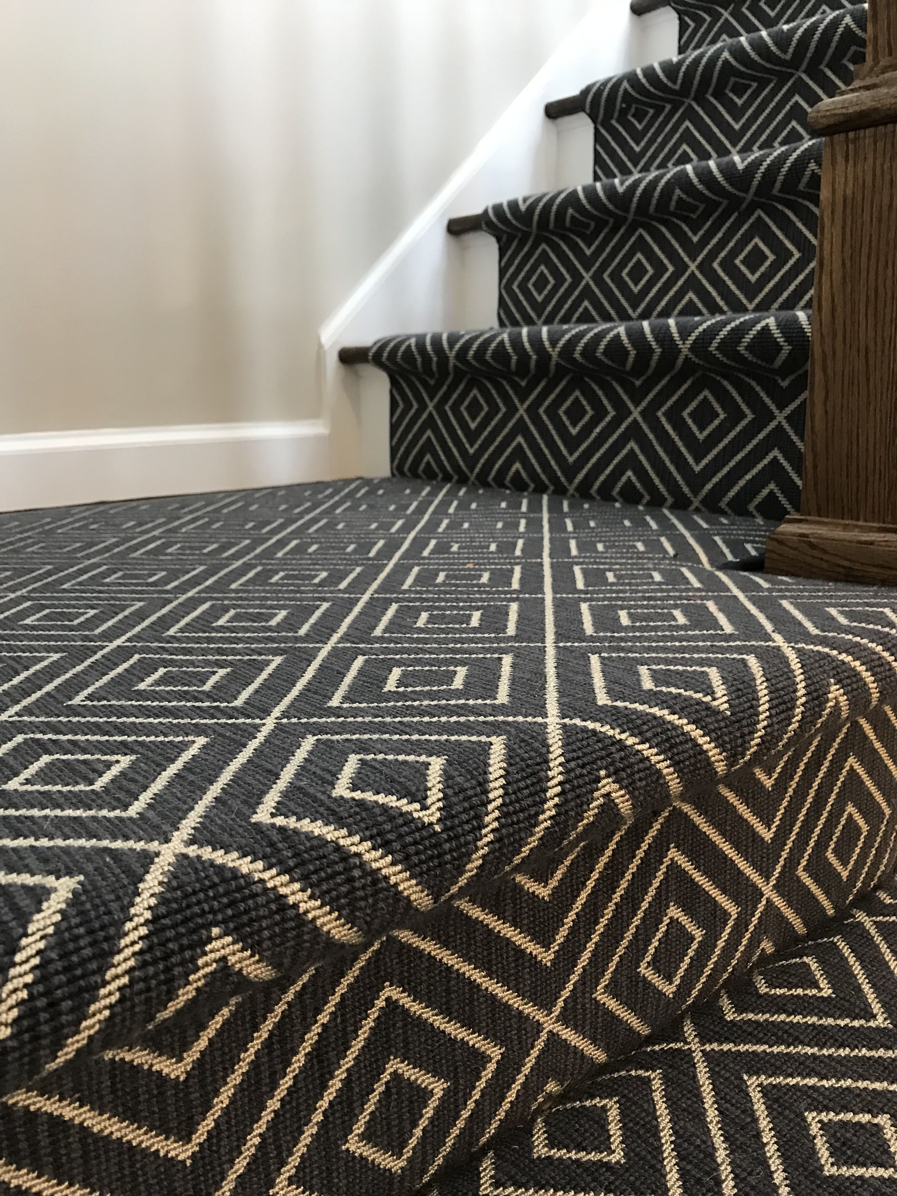Mill Prestige Style Duval Color Indigo Available At Our Remnant Site See The Link Stair Runner Carpet Textured Carpet Carpet Stairs