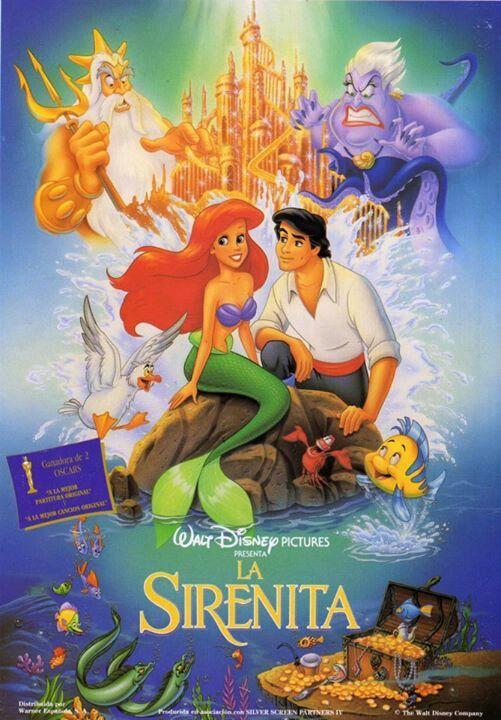 La Sirenita Carteles De Películas De Disney Peliculas Infantiles De Disney Peliculas De Disney