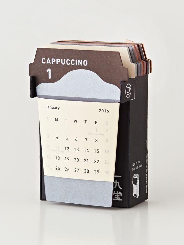 2016 COFFE CUP CALENDAR   株�会社一�堂�刷所株�会社一�堂�刷所