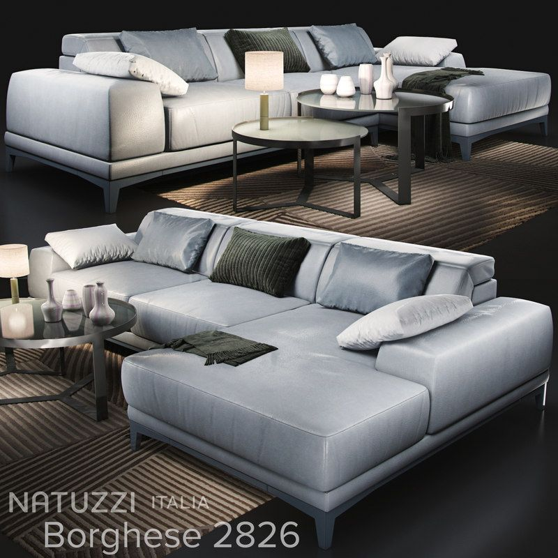 Sofa Natuzzi Borghese 2826 3d Model Natuzzi Luxury Furniture Brands Sofa