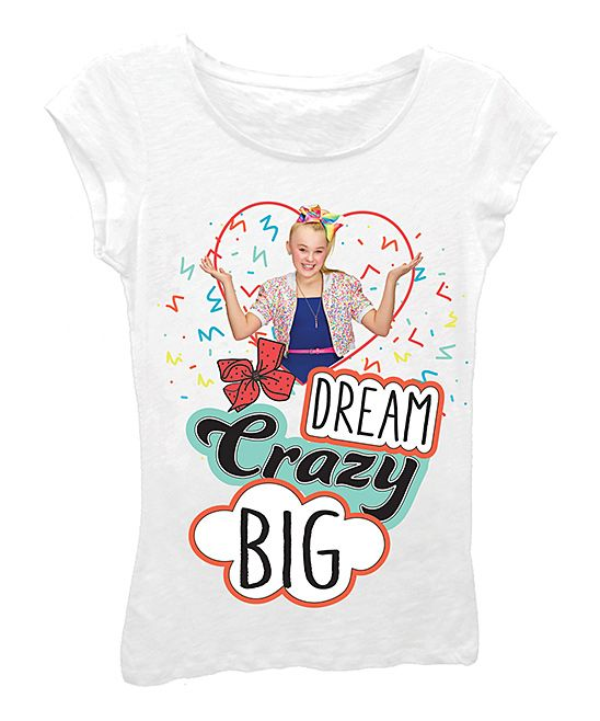 5ff1cafacbcc79 White Jojo Siwa  Dream Crazy Big  Tee - Girls